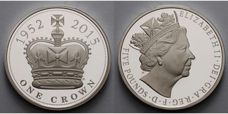 5 Pounds 2015  Großbritannien Elisabeth II...