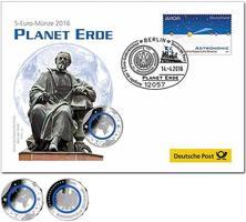 5 Euro 2016 J  Deutschland blauer Planet E...