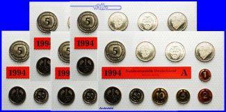 Deutschland 63,40 DM 2000 A/D/F/G/J SET st...