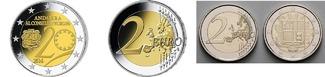2 x 2 Euro, 2 Euro Kursmünze z.Nominalwe 2...