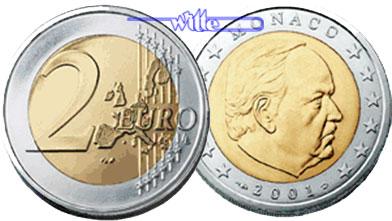 2 Euro 2002 Monaco Kursmünze, 2 Euro stgl