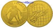 Spanien 200 Euro 13,48g fein 30 mm Ø Fußball WM 2002 im originales Holzetui + Zertifikat