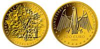 Deutschland 100 Euro  15,55g  fein  28 mm Ø Oberes Mittelrheintal, UNESCO Welterbe, Prägestätte F, lieferbar !