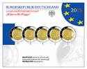 2 Euro 5x 2015 A/D/F/G/J Deutschland 30 J. EU-Flagge, kompl. Satz (5 Pr... 129,95 EUR
