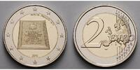 2 Euro 2015 Malta Republik, geringe Auflage, ohne Münzzeichen, stgl  6,90 EUR