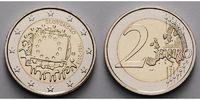 2 Euro 2015 Slowakei 30 Jahre EU-Flagge 1985-2015 stgl  4,70 EUR