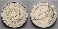 2 Euro 2015 Lettland 30 Jahre EU-Flagge 1985-2015 stgl  4,50 EUR