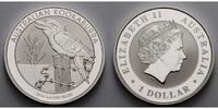 1 $ 2016 Australien Kookaburra stgl  28,50 EUR