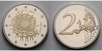 2 Euro 2015 Niederlande 30 Jahre EU-Flagge 1985-2015 PP Bimetall im Etui  39,80 EUR