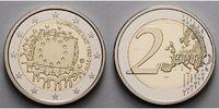2 Euro 2015 Finnland 30 Jahre EU-Flagge 1985-2015 PP Bimetall im Etui  29,80 EUR