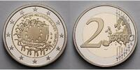 2 Euro 2015 Belgien 30 Jahre EU-Flagge 1985-2015 PP Bimetall im Etui  28,50 EUR