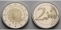 2 Euro 2015 Italien 30 Jahre EU-Flagge 1985-2015 PP Bimetall im Etui  36,80 EUR