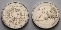 Malta 2 Euro 30 Jahre EU-Flagge 1985-2015
