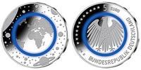 5 Euro 2016 J-D Deutschland blauer Planet ...