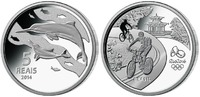 5 Reais 2014 Rio Oly. Sommer Rio 2016 - Delphin 02 / 16, orig.Oly. Kaps... 99,90 EUR  zzgl. 5,00 EUR Versand