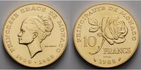 10 Francs, 19,45g fein 26,00 mm Ø 1982 Monako Monaco -Grace Kelly-Essai... 1495,00 EUR kostenloser Versand