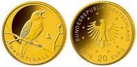 20 Euro 3,89g fein 17,5 mm Ø 2016F Deutschland Heimische Vögel, Nachtig... 219,00 EUR  zzgl. 5,00 EUR Versand