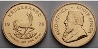 Süd Afrika 1 oz  31, 1g  fein  32, 69 mm Ø Krügerrand 1 oz. - Springbock, 1978 - seltener Jahrgang