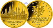 100 Euro  15,55g  fein  28 mm Ø 2007A  Deutschland Hansestadt Lübeck, P... 650,00 EUR kostenloser Versand
