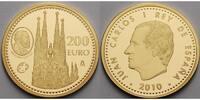 Spanien 200 Euro 13,5g fein 30 mm Ø Gaudi / Sagrada Tempel inkl. Etui & Zertifikat & Schuber - Europaprogramm