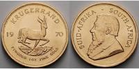 Süd Afrika 1 oz  31, 1g  fein  32, 69 mm Ø Krügerrand 1 oz. - Springbock,  1970 - seltener Jahrgang