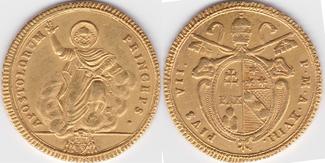 Doppia 1817-1818 Vatikan Papst Pius VII. (...