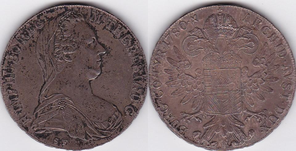 Nachprägung Maria Theresia Taler Österreich 1780 Np Silber