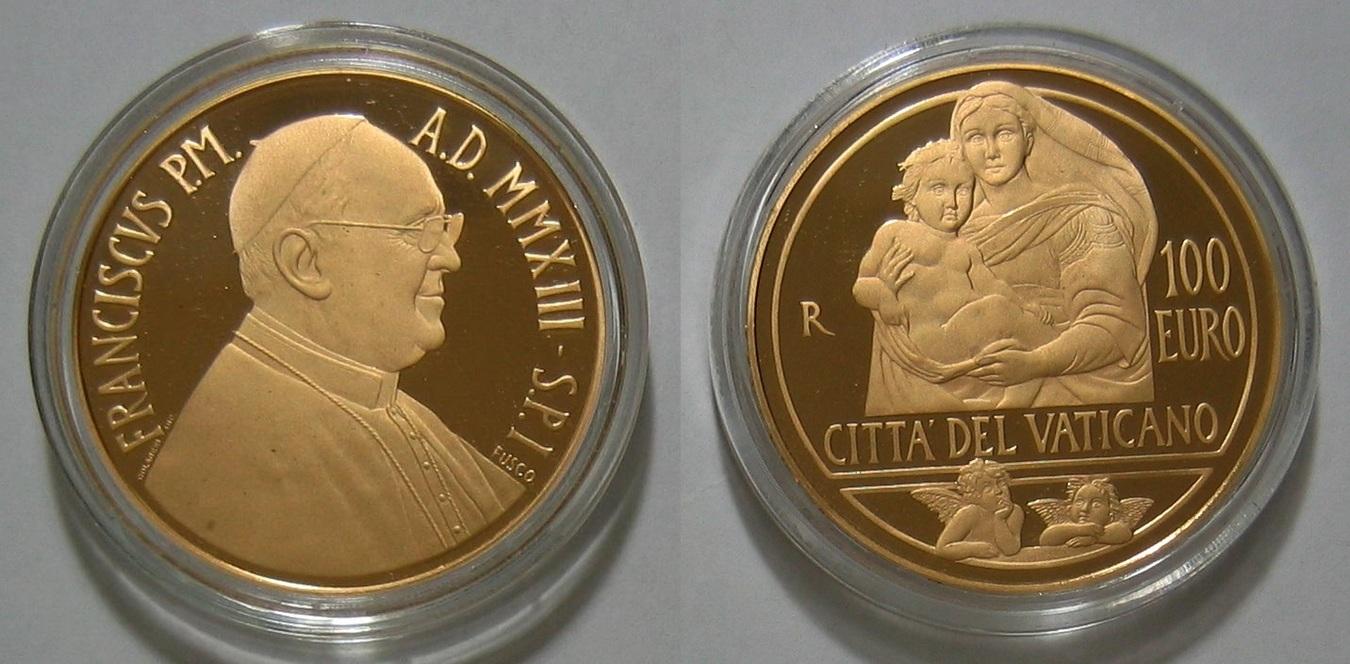 2013 100 Euro Die Sixtinische Madonna Vatikan 100,00€