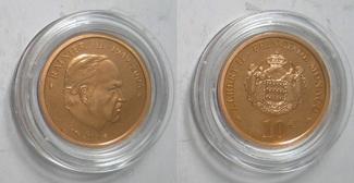 10 € 2005 Monako Albert II. - Tod von Fürs...