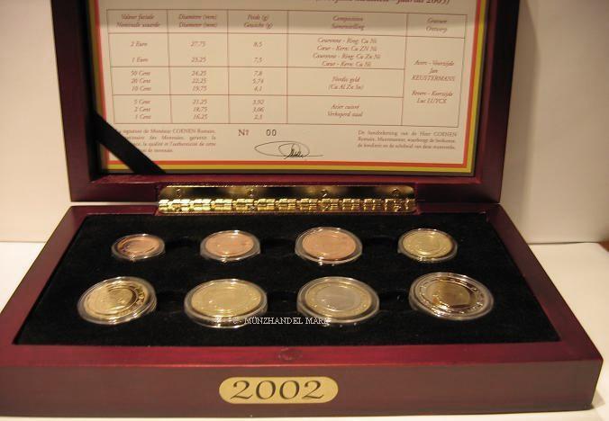 Belgien Kms 2002 in Pp 3,88 €