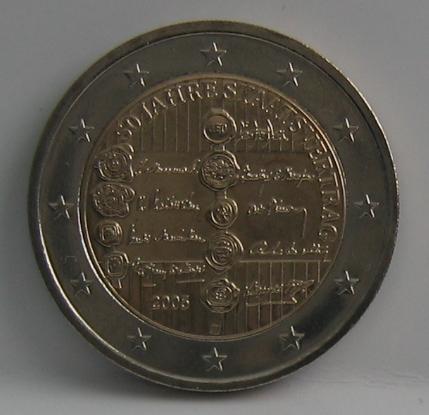 2€ Gedenkmünze 50 Jahre Staatsvertrag 2005 Österreich