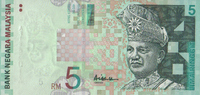 5 Ringgit ND(2001) Malaysia Pick 41a unc/kassenfrisch  6,00 EUR  +  8,50 EUR shipping