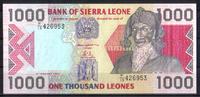 1.000 Leones  Sierra Leone Pick 20a unc/kassenfrisch  7,50 EUR  zzgl. 3,95 EUR Versand