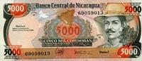 5.000 Cordobas ND(1988) Nicaragua Pick 157 unc/kassenfrisch  3,00 EUR  zzgl. 3,95 EUR Versand