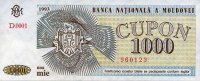 Moldawien 1.000 Cupon Pick 3