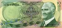 10 Lira 1970 Türkei Pick 186 unc/kassenfrisch  3,50 EUR  zzgl. 3,95 EUR Versand