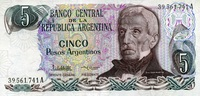Argentinien 5 Pesos Pick 312a
