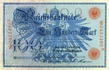 Reichsbanknote 1908 100 Mark Ros.33b