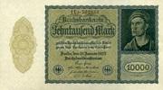 Geldscheine der Inflation 1919-1924 10.000 Mark Ros.69c