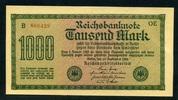 Geldscheine der Inflation 1919-1924 1.000 Mark Ros.75d