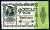 Geldscheine der Inflation 1919-1924 50.000 Mark Ros.79d/Fz E