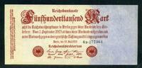 Geldscheine der Inflation 1919-1924 500.000 Mark Ros.91b