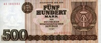 500 Mark 1985 Staatsbank der DDR 1971-1989 Ros.365a unc/kassenfrisch  15,50 EUR  zzgl. 3,95 EUR Versand