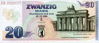 20 Mark 22.12.1989 DDR- Gedenkausgabe -BRANDENBURGERTOR- unc/kassenfrisch  410,00 EUR  zzgl. 4,50 EUR Versand