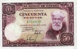 50 Pestas 31.12.1951 Spanien P.141a unc/kassenfrisch  170,00 EUR  zzgl. 4,50 EUR Versand