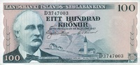 100 Kronur 21.6.1957 Island P.40a unc/kassenfrisch  10,00 EUR  zzgl. 3,95 EUR Versand