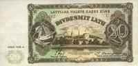 20 Latu 1936 Lettland P.30b unc/kassenfrisch  290,00 EUR  zzgl. 4,50 EUR Versand