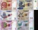 Congo Demo.Republik Specimen 1-50 Cent + 1 Franc