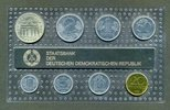 DDR-  mit Brandenburgertor 1989 1 Pfg. - 5 Mark