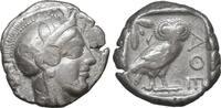 Attica Athens Tetradrachm  tetradrachme 454-404 BC